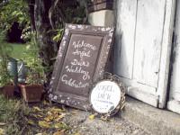 Dick & Angel's wedding sign